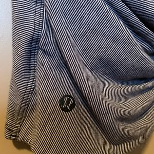 Lululemon striped top with open back
